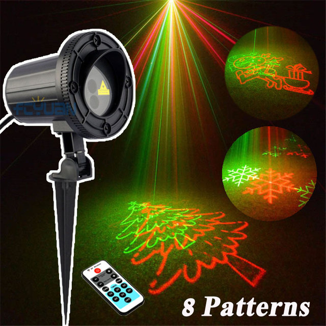Outdoor lights laser projector christmas decorations for a holiday outdoor lights laser projector christmas decorations for a holiday motion snowflake double color 8 pattern waterproof mozeypictures Gallery
