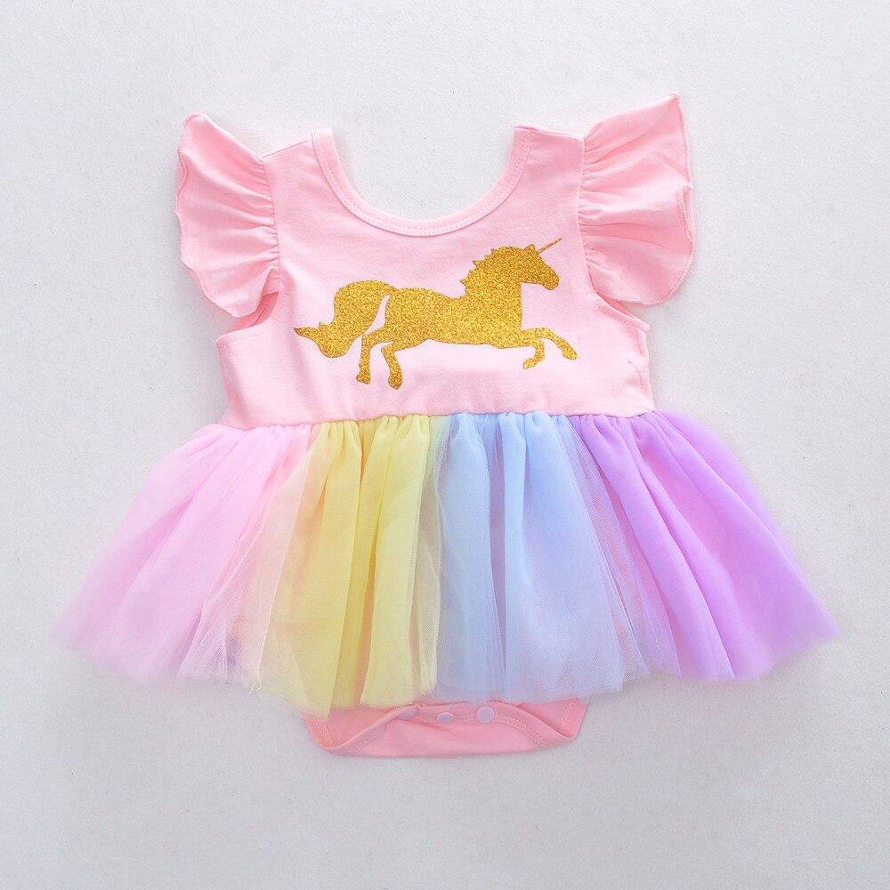 2018 Новые Девушки Золотой пони комбинезон летняя детская одежда Оптовая продажа, одежда для маленьких девочек