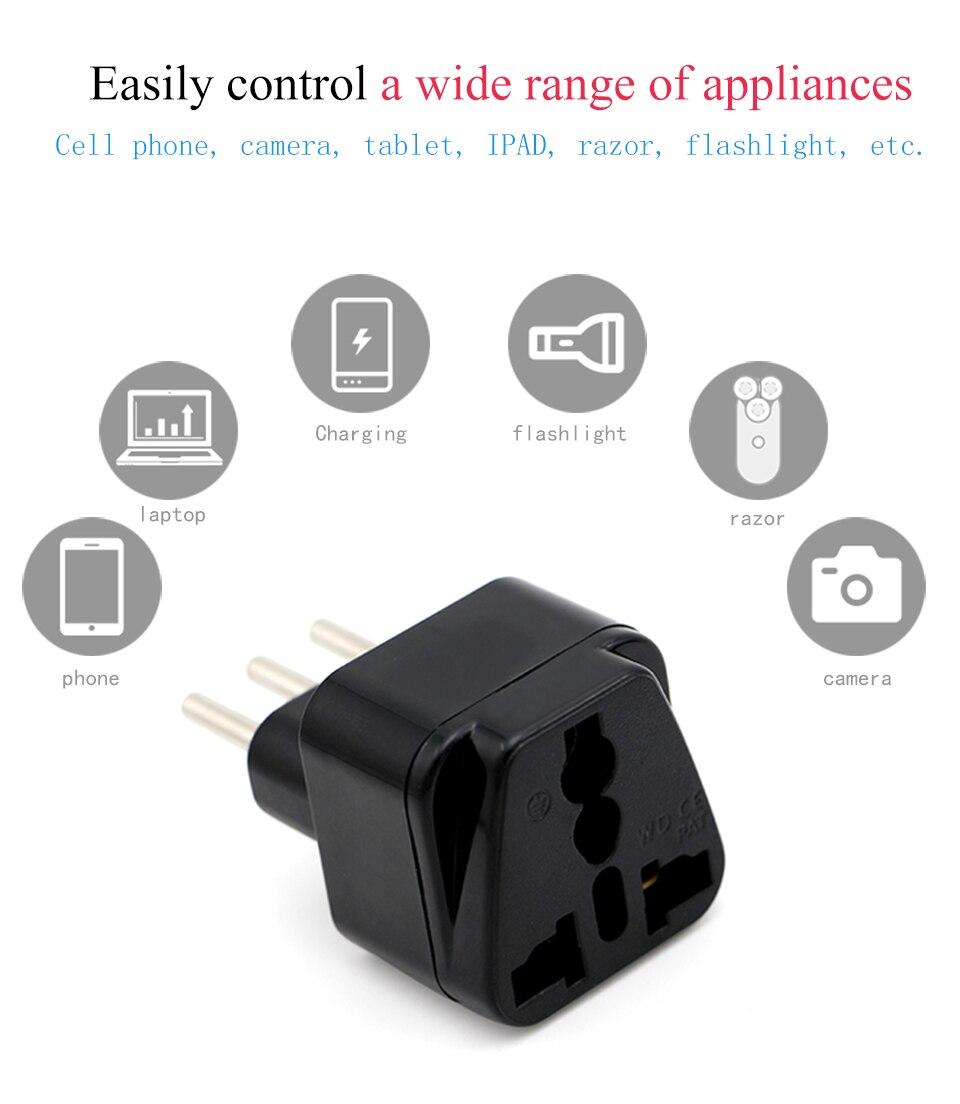 3-pin IT Conversion plug Universal UKUSEUAU to Italy Milan Chile Vatican Italian Travel AC Power Adapter Plug Converter (8)