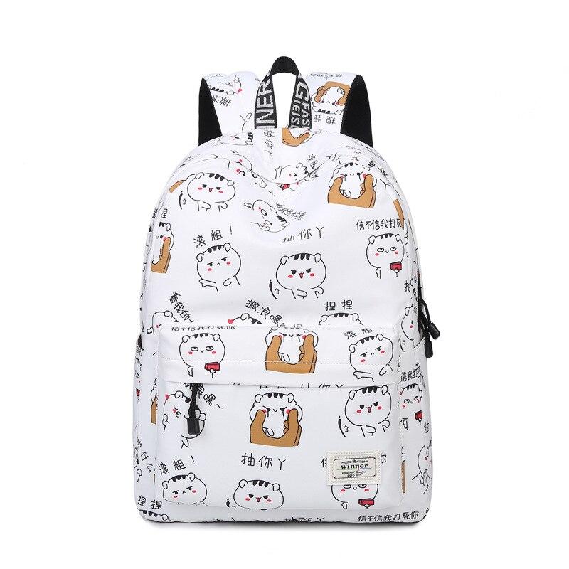 92ca62a9a4 Cute Cartoon Pattern Shoulder Backpacks Waterproof Female Trendy Preppy  Style Printing Student Girls College Backpack Bags