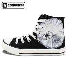 Original Design Black Converse Hand Painted Shoes Ballet Dancer High Top Men Women Canvas Sneaker Birthday