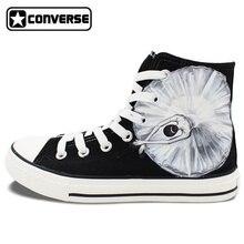 Original Design Black Converse Hand Painted Shoes Ballet Dancer High Top Men Women Canvas Sneaker Birthday Christmas Gifts