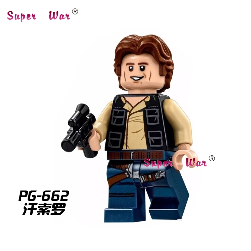 1PCS  Superhero Marvel Avengers Young Han Solo Building Blocks Action  Sets Model Bricks Toys For Children