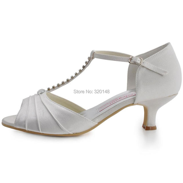 6bcec07e68 Summer Women sandals White Ivory Wedding Bridal Shoes Low Heel T ...