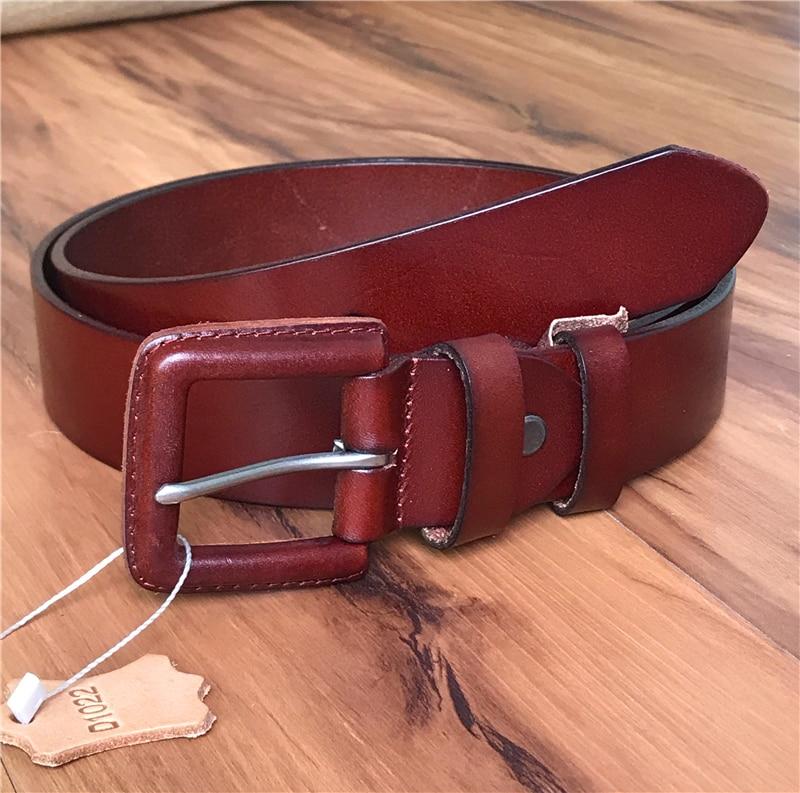 Anti-allergique Pin Ceinture boucle hommes Ceinture en cuir véritable larges ceintures pour femmes Ceinture Femme Vintage ceintures Ceinture Homme MBT0484