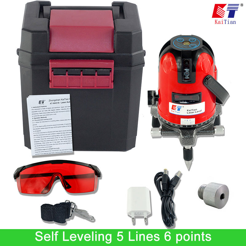 ФОТО KaiTian Cross Line Laser Level 5 Lines 6 Points Cross Level 1/4