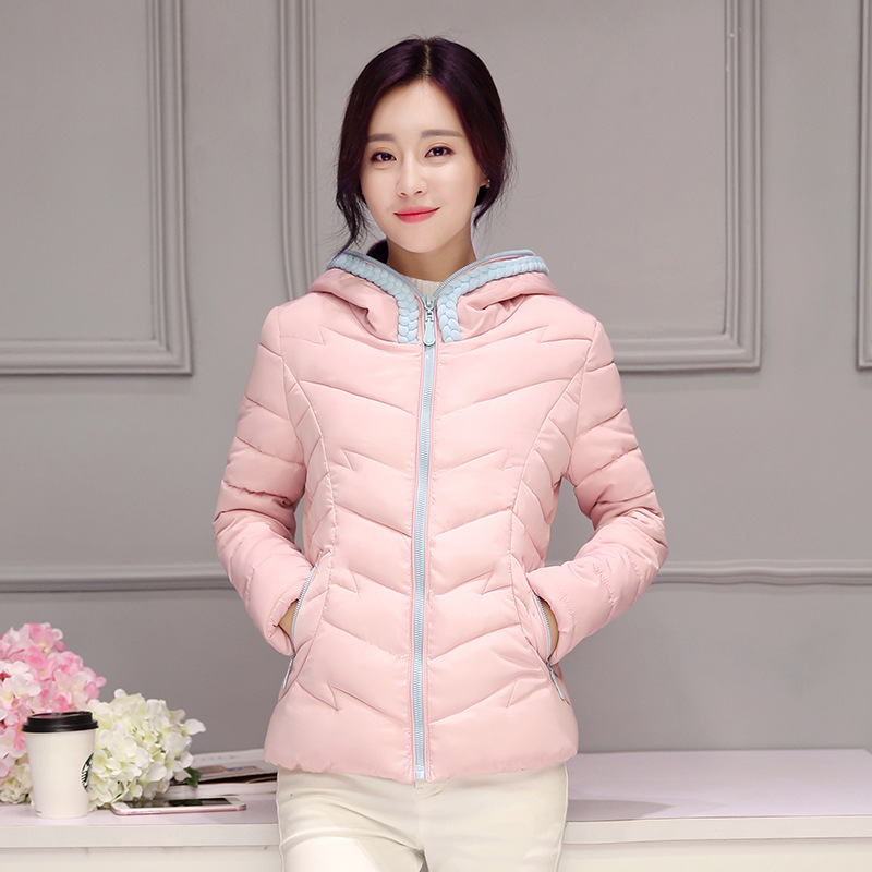 2016 Limited Zipper Button New Plus Size Winter Wadded Jacket Women Thick Warm Hooded Down Cotton