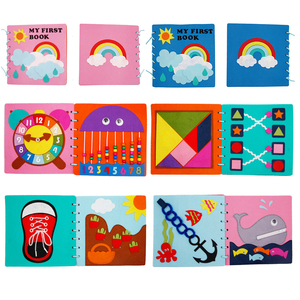 Image 2 - Mom Handmade My First Book 20X20CM Soft Felt Cloth Quiet Book Toys For Kids Early Learning Educational Felt Material DIY Package