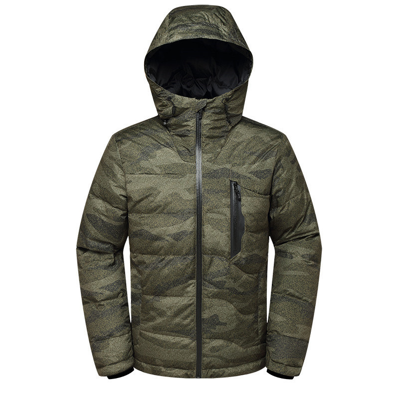 2018 New High Quality Winter Jacket White Duck Down Warm Thick Winter Down Jacket Men's Hooded Youth Zipper Down Coat
