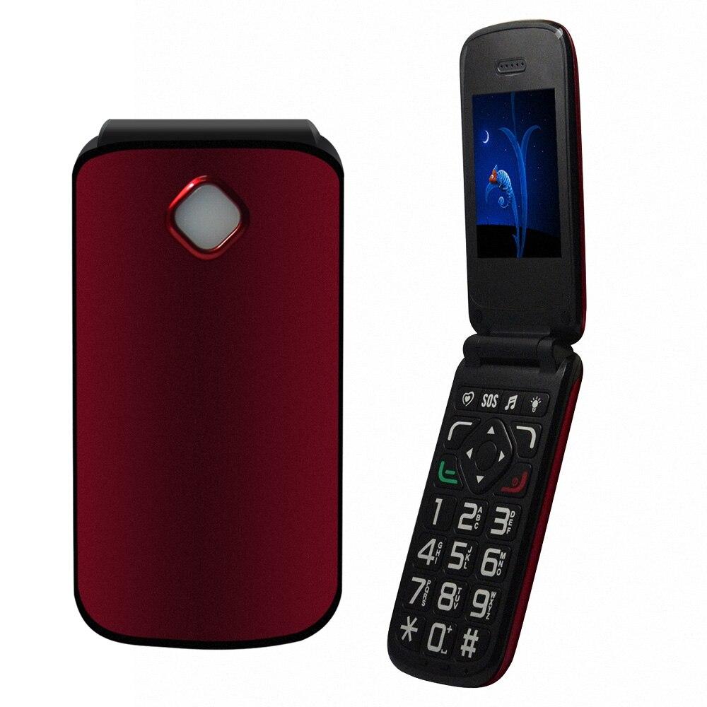 Цена за VKWORLD Diamond Z2 2.4 ''Flip Телефон Разблокирован Телефон FM MP3 Две SIM Мобильный Телефон Большая Клавиатура Большие Шрифты SOS Мобильный Телефон Родителей Подарок