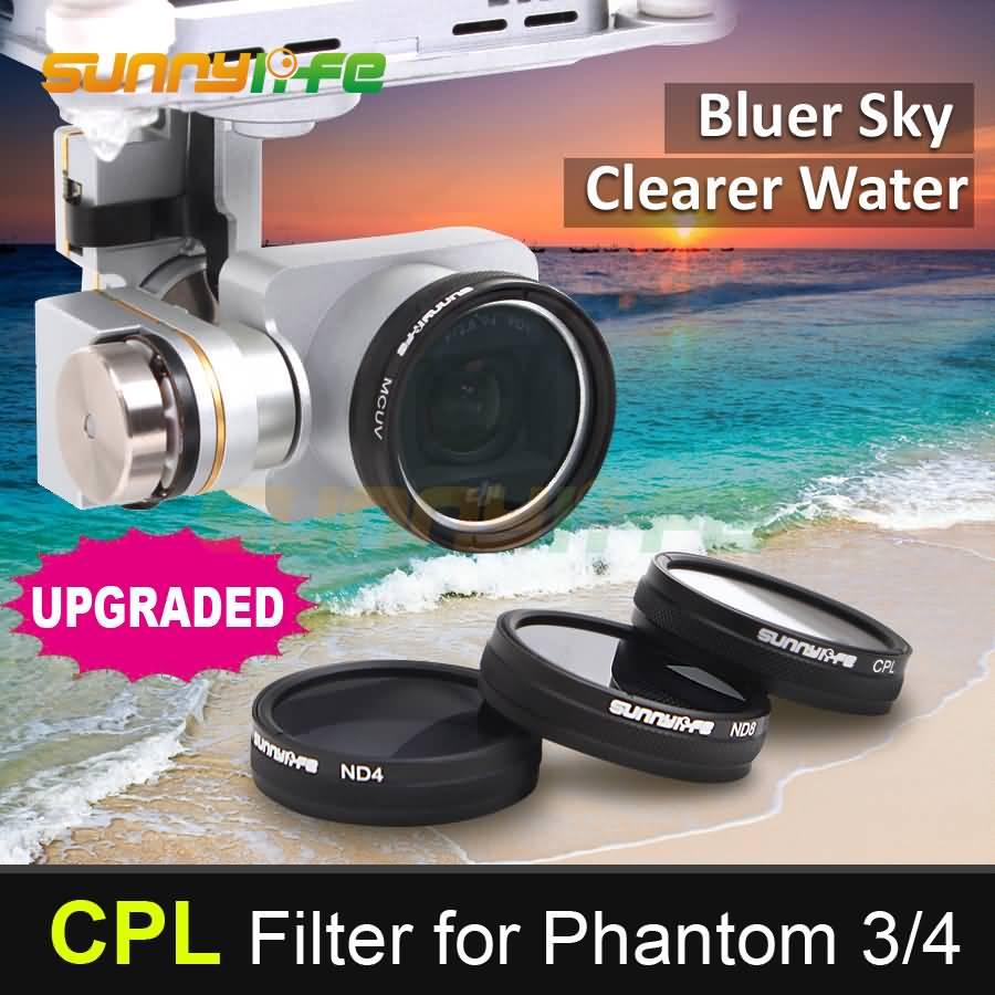 Sunnylife Phantom 3 4 Accessory CPL Filter Circular Polarizer Filter for DJI Phantom 4 3 Professional