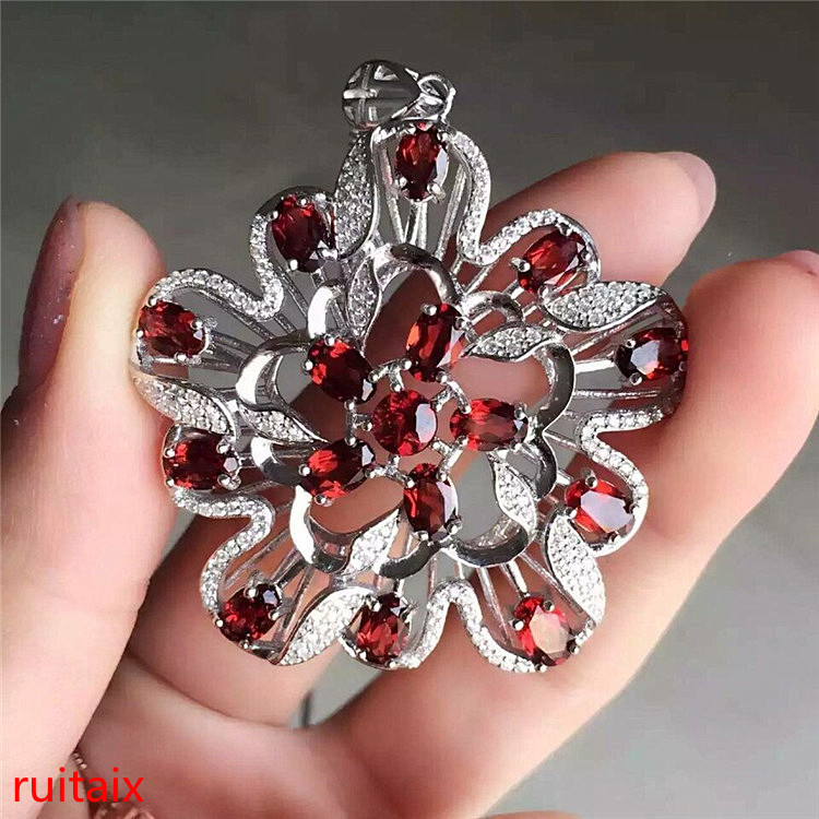 KJJEAXCMY boutique jewels S925 sterling silver pomegranate bee garnet necklace chain pendant chain. equte psiw3coot1 s925 sterling silver necklace cat s eye axe pendant chain white silver 16