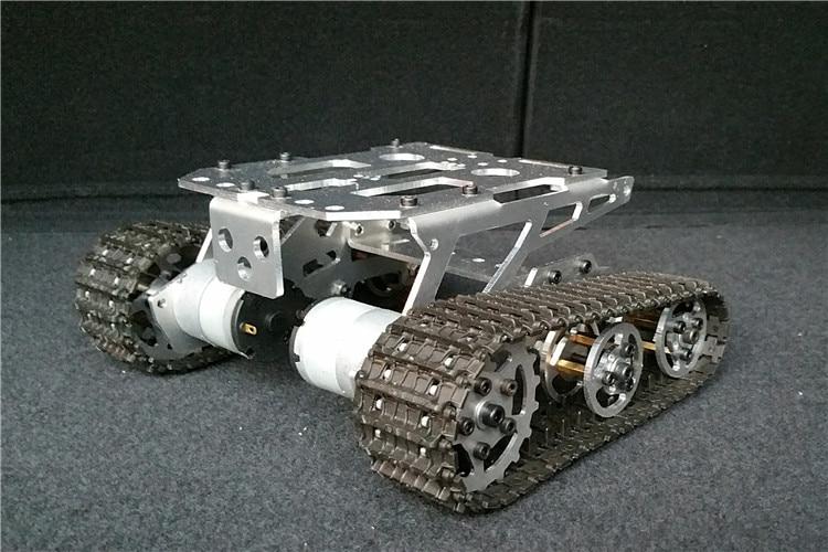 100% Metal KD Unassembled Tank chassis intelligent Car Crawler Chassis Caterpillar Vehicles Tanks Wall-E Robot advanced intelligent vehicles control