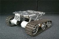 100% Metal KD Unassembled Tank chassis intelligent Car Crawler Chassis Caterpillar Vehicles Tanks Wall E Robot