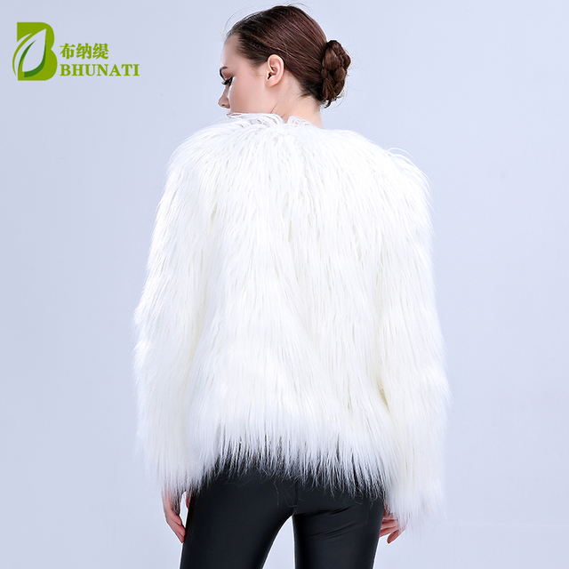 LED Fur coat stage costumes female LED luminous clothes jacket Bar dance show faux fur coats star nightclub Christmas LED Coat