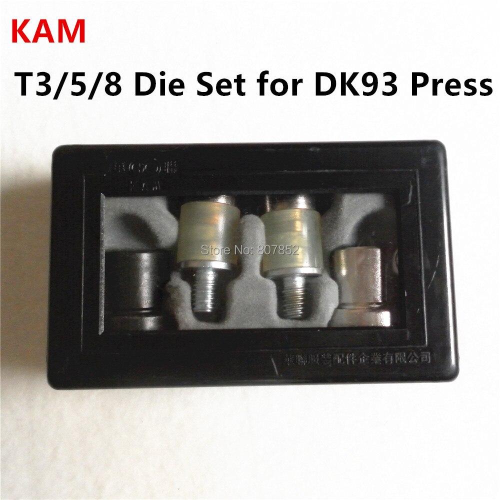 DHL 10pcs KAM T3 T5 T8 Die Set for DK93 Table Hand Press Machine to assemble Plastic Snaps Buttons цены