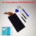 Display lcd para sony xperia z2a d6563 zl2 tela de toque digitador assembléia + ferramentas 100% testado