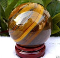 AAA 55 60mm Natural Tiger S Eye Quartz Crystal Sphere Ball