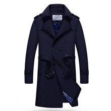 2016 winter Men's leisure fashion Long style trench coat Men's jackets Outerwear Casual Coat Men's Jacket Windbreaker