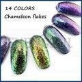 ¡ NUEVO! 3g Camaleón Copos Copos de Efecto Mágico Multi Chrome Cequis Del Brillo Del Polvo de Uñas Manicura Del Arte Del Clavo Esmalte de Uñas de Gel