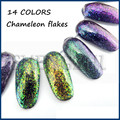 NOVO! 3g Flocos Flocos de Efeito Mágico Chameleon Multi Chrome Prego Pó Glitter Lantejoulas Nail Art Gel Unha Polonês Manicure