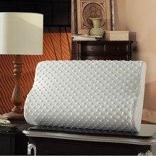 Ортопедические подушки с эффектом памяти, 3 цвета, латексная подушка для шеи, мягкая подушка из волокна с медленным отскоком, массажер для шеи Health36