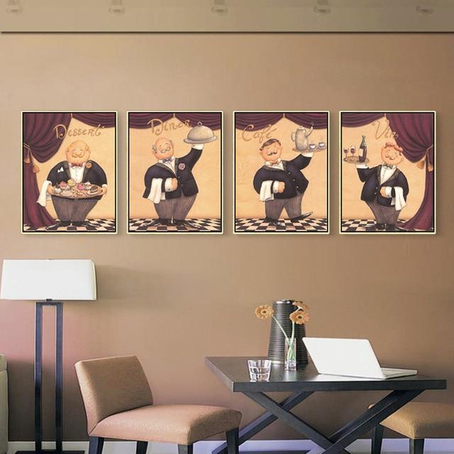 Stile nordico dipinto della parete per cucina ristorante decor art ...