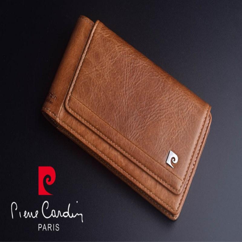 Pierre Cardin a estrenar para Samsung Galaxy Note 9 cuero genuino bolso del teléfono móvil del bolso de la correa del cubierta del caso libre