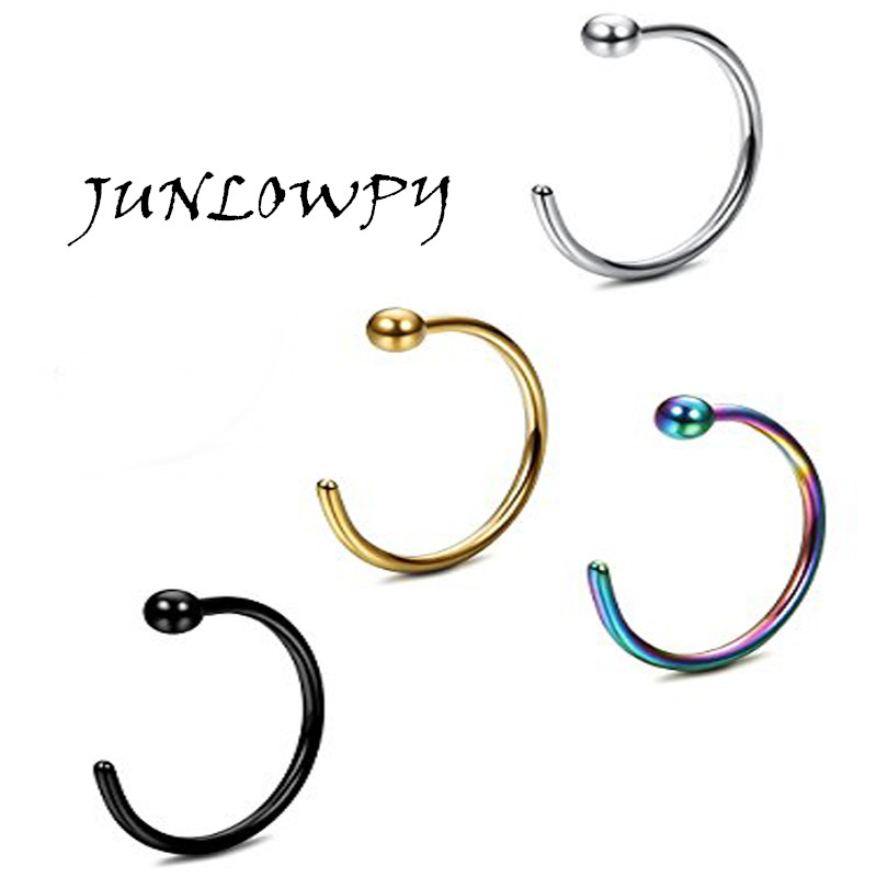 Buy Stainless Steel Hoop Bead Nose Ring Earring Septum Lip Piercing eyebrow bar tragus body jewelry piercing nose bar 20G for $1.87 in AliExpress store