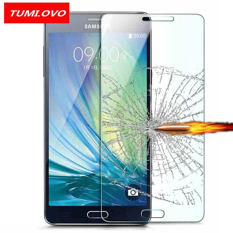 Pour Samsung Galaxy J1 J3 J5 J7 A3 A5 A7 2016 2017 Grand Prime S7 S6 S5 S4 Trempé Verre Protecteur D'écran Avant coque de téléphone