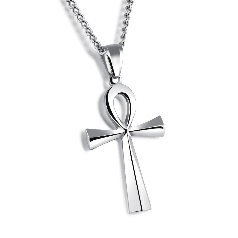 Fatelove brand jewelry gold silver black color man 39 s cool for Black and blue jewelry cross necklace