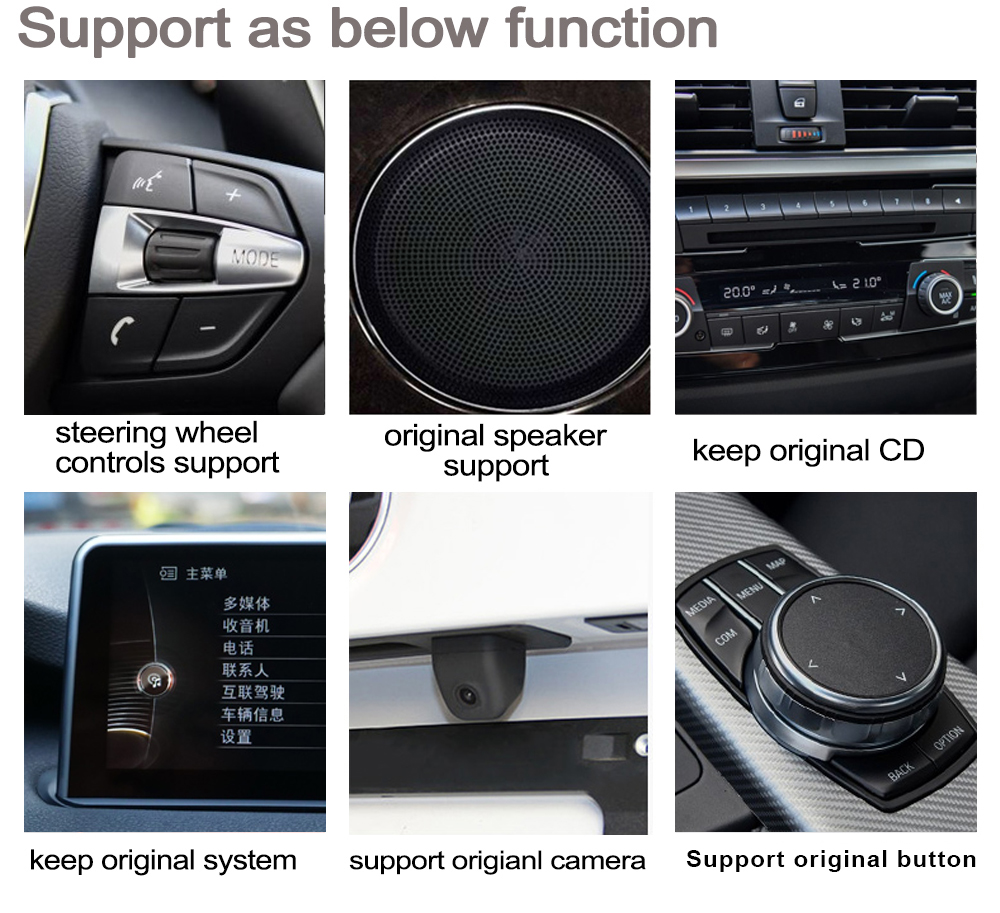 Excellent 2G+16G Android 7.0 up Car radio GPS multimedia player For BMW X1 F48 2015~2019 Navigation WiFi BT Radio Media 29