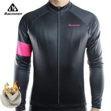 Racmmer Warm 2016 Pro Winter Thermal Fleece Cycling Jersey Ropa Ciclismo Mtb Long Sleeve Men Bike Wear Clothing Maillot #ZR-23