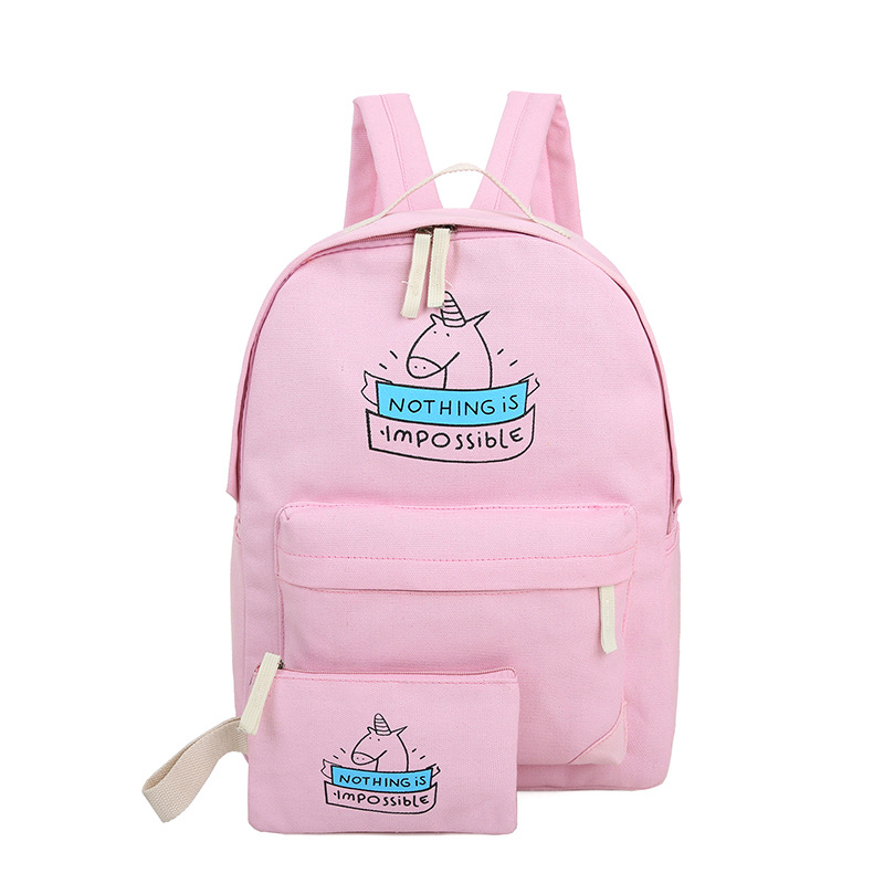 fashion Printing backpack sweet lady bags cartoon canvas backpacks for teenage girls school bags and small bags satchel high q cartoon rick and morty 2017 new arrival backpack students couple printing candy color leisure bags