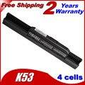 Jigu k53sc x53sj k54hr bateria do portátil para asus k53jg x43v P53F K53SJ K53SK PRO8G P43J K84HY X43JFK53JN X44HO Series X53T K53SM
