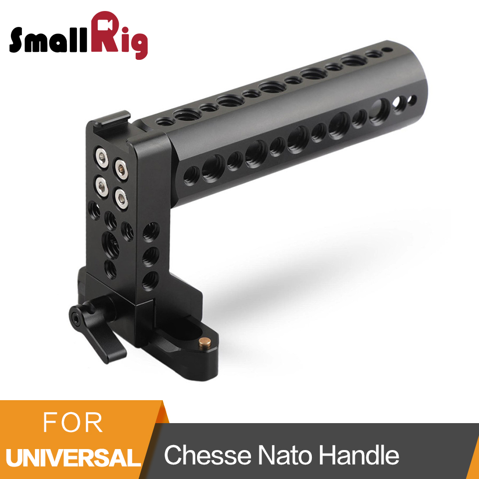 SmallRig Cheese Handle Nato Handle With 70mm Nato Rail Cold Shoe 1 4 and 3 8