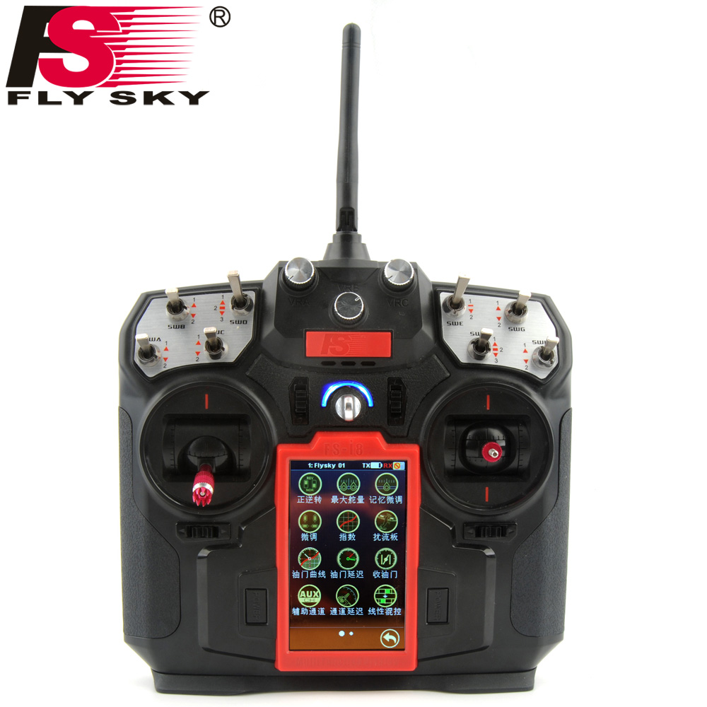 FLY SKY FS-I8 Transmitter with FS-IA6B receiver For RC Drone Quadcopter Airplanes Fixed-wing Glider Helicopter GT170825211 перфоратор makita bhr162rfe