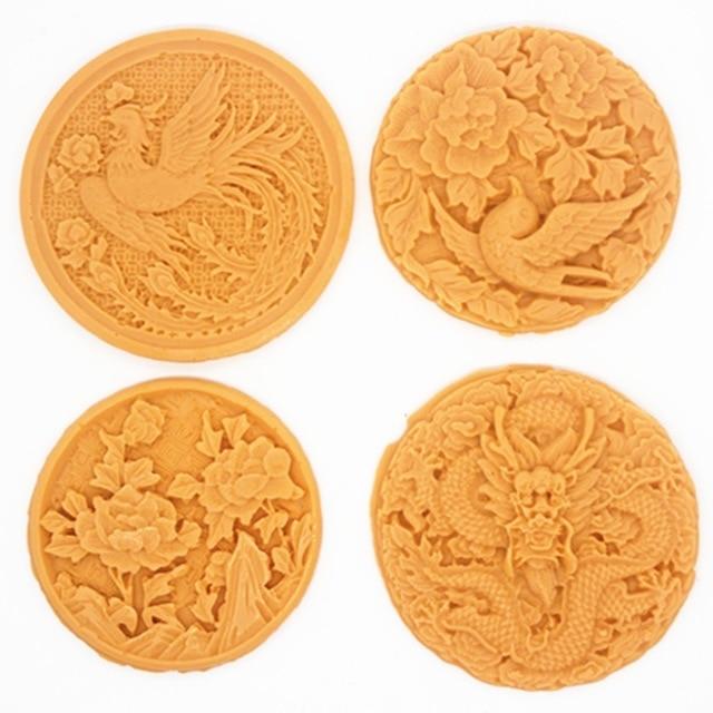 P267-68-69-70 Silicone mould Dragon phoenix flower bird shape soap mold handmade clay resin craft mold DIY decoration tools