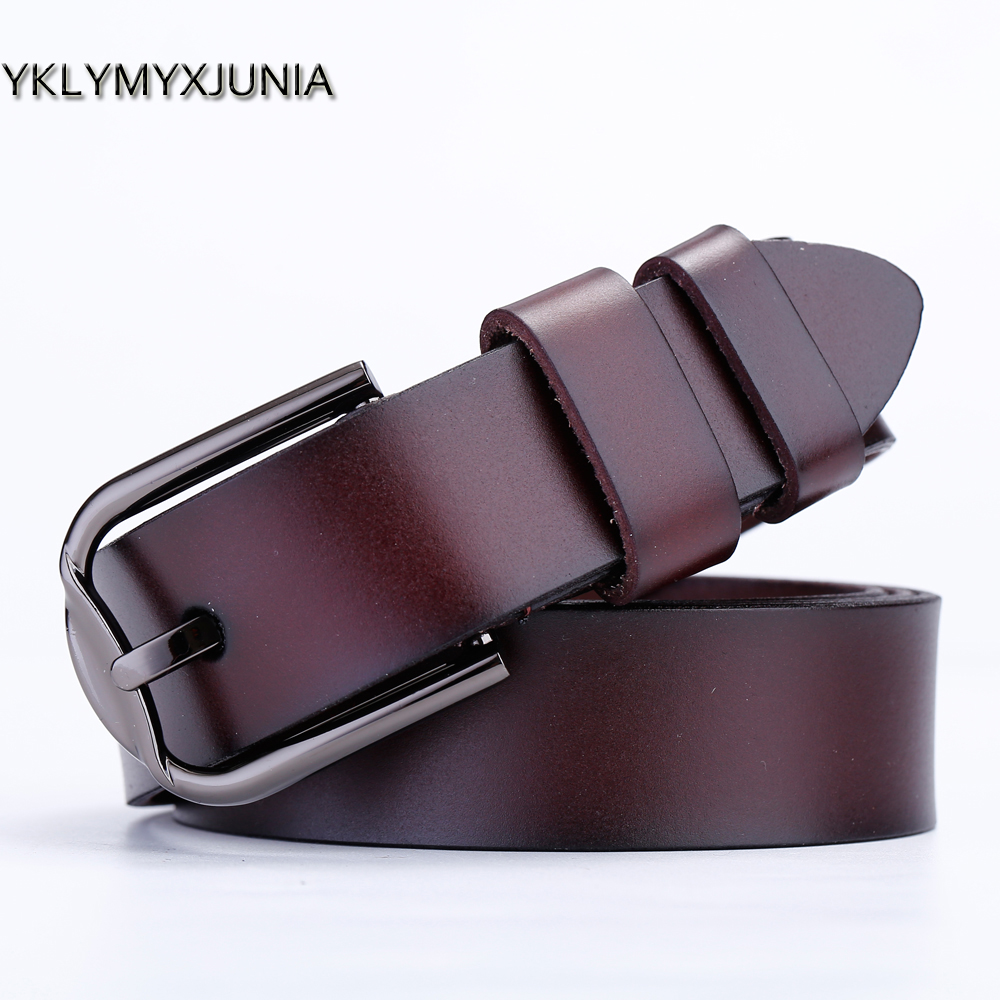 Women's Genuine Leather Belts High Quality Leather Brand Female Strap Women Wide Waistband 2019 Red \black Color Leather Goods