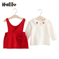 2017 Spring Baby Girl Outfit Long Sleeve T Shirt Girls Dress Infant Girl Clothes Baby Clothing