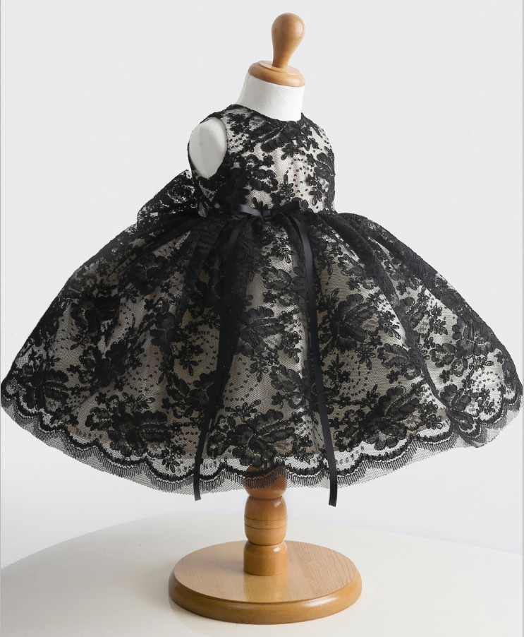 Classical Black Girls Dresses With Crystals Sleeveless Ball Gown O-Neck First Girls Communion Gown Girls Pageant Dress все цены