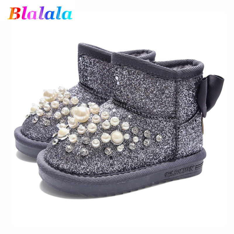Winter baby girls snow boots boys snowshoes kids fashion boots children ankle boots warm plush pearl rivet glitter 1 to 10 yrsWinter baby girls snow boots boys snowshoes kids fashion boots children ankle boots warm plush pearl rivet glitter 1 to 10 yrs
