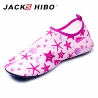 JACKSHIBO Summer Kid Water Shoes Breathable Child Swimming Aqua Shoes Upstream Shoes For Children Non Slip