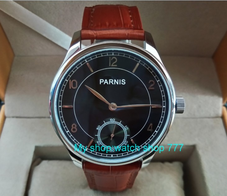 44mm PARNIS Asian ST3621/6498 Mechanical Hand Wind movement Mechanical watches Gray dial men's watches wholesale fxy22 44 mm parnis white dial asian 6498 3621 mechanical hand wind men watches mechanical watches wholesale 389