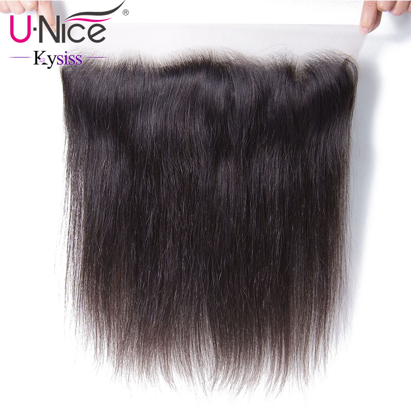 UNice Hair 8A Kysiss Virgin Series Straight Brazilian Hair Lace Frontal 13 x4 Free Part Lace