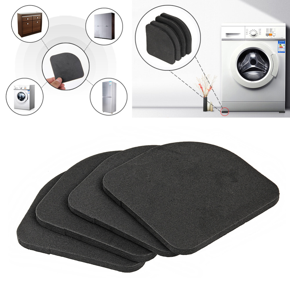 Furniture Efficient 4pcs/set High Quality Washing Machine Shock Pads Non-slip Mats Refrigerator Floor Protectors Anti-vibration Pad Quality