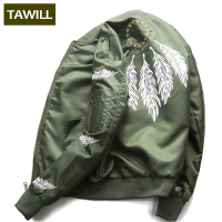 TAWILL New Bomber Jacket Men Military U S Army Fashion Autumn Male Pilot Jackets Coats Autumn