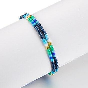 Noter New Fashion Anklets For Women Girls Dark Blue Tassel Foot Bracelet Summer Beach Jewelry Feet Accessories Best Friend Gift 4
