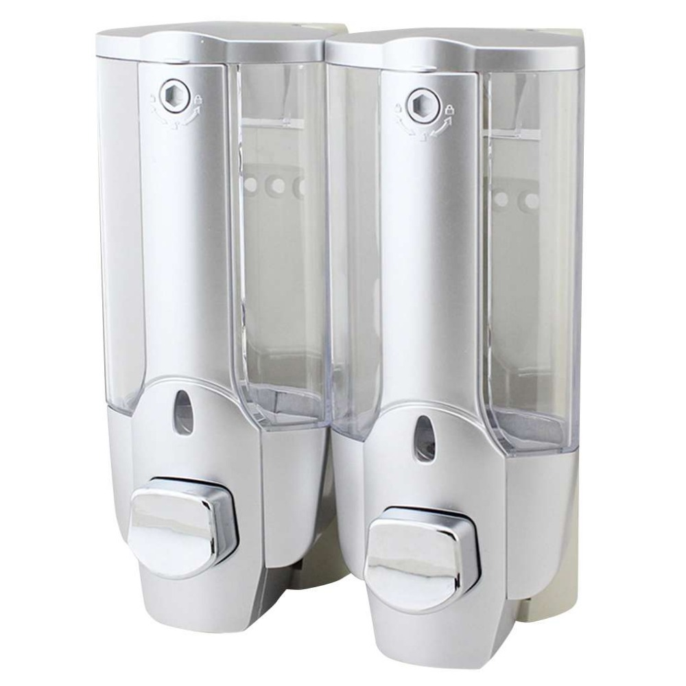 Soap Dispenser Double Head Liquid Soap Dispenser Wall-mounted Bathroom Hotel Hand Sanitizer Shower Shampoo Liquid Soap ContainerSoap Dispenser Double Head Liquid Soap Dispenser Wall-mounted Bathroom Hotel Hand Sanitizer Shower Shampoo Liquid Soap Container