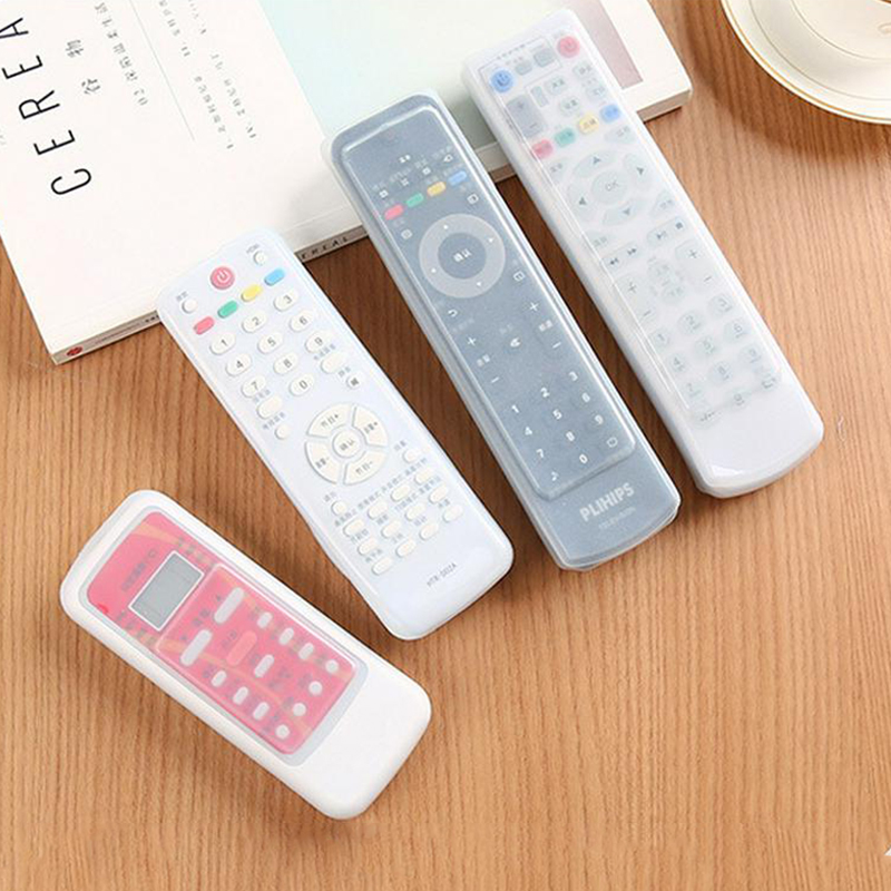1Pc Waterproof Silicone Storage Bags TV <font><b>Remote</b></font> Control Case Cover Video <font><b>AC</b></font> Air Condition Dust Cover Protective <font><b>Holder</b></font> Organizer image